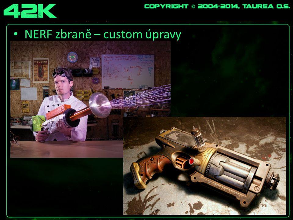 NERF zbraně – custom úpravy