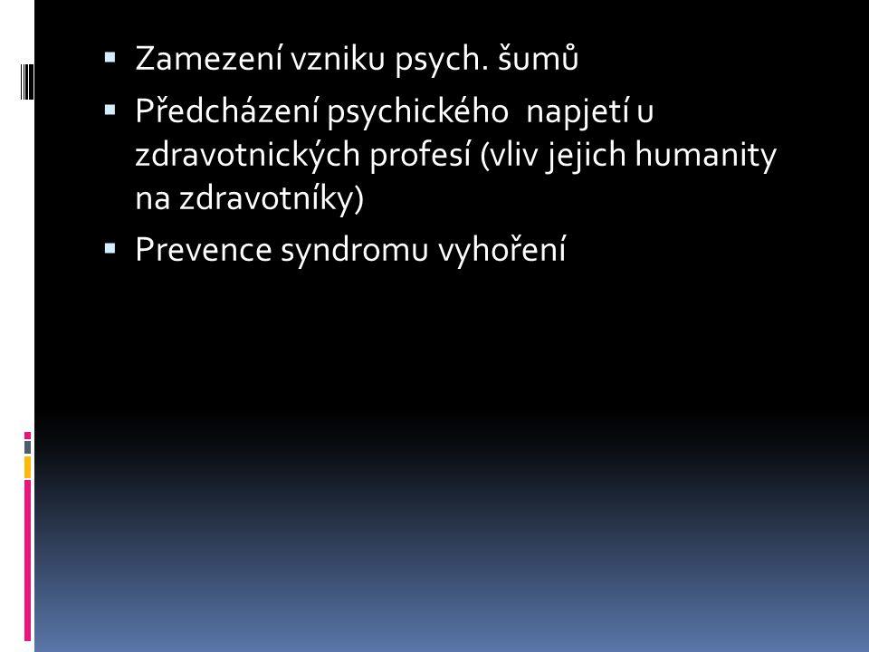 Zamezení vzniku psych.