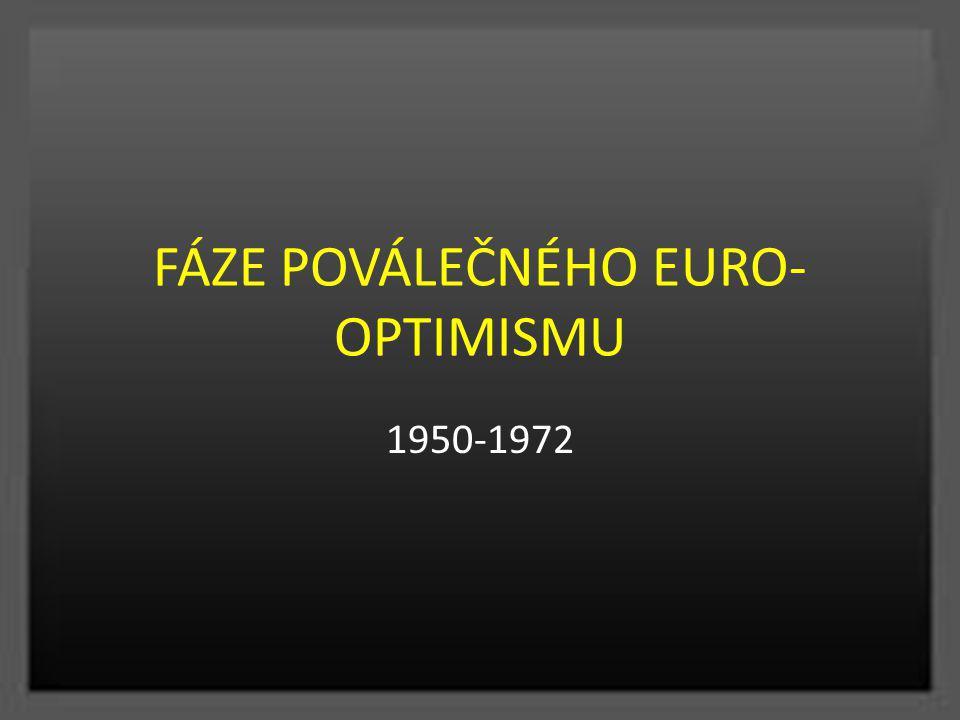 FÁZE POVÁLEČNÉHO EURO- OPTIMISMU 1950-1972