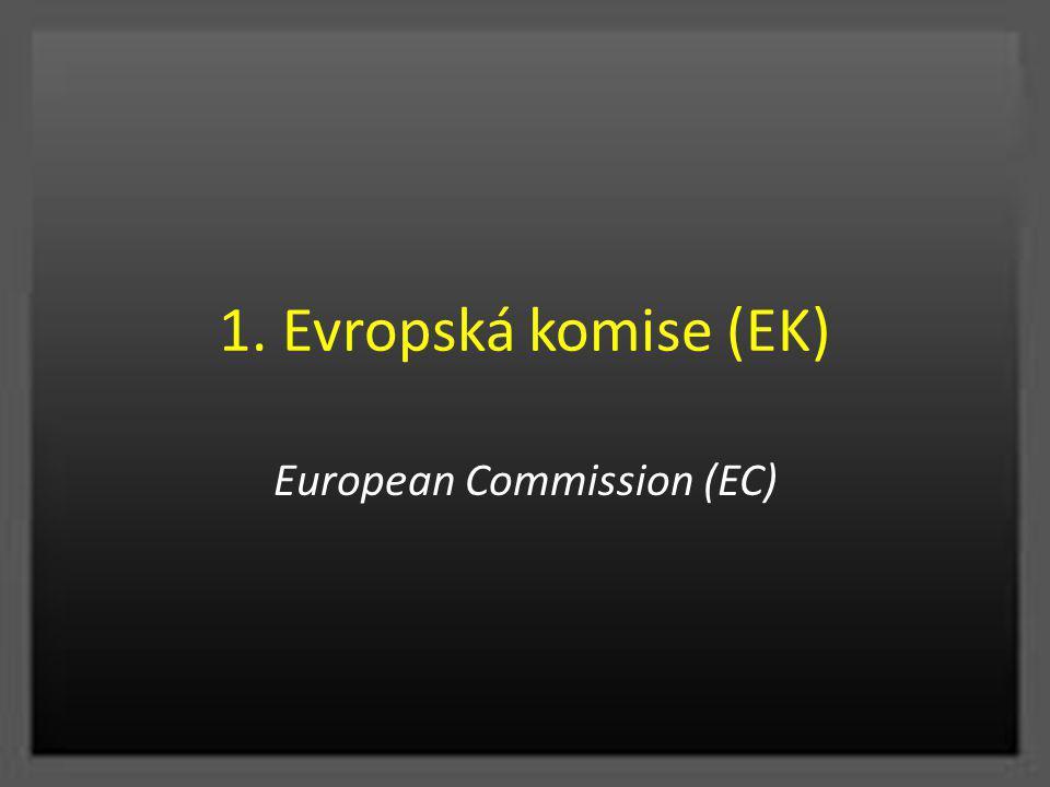 1. Evropská komise (EK) European Commission (EC)