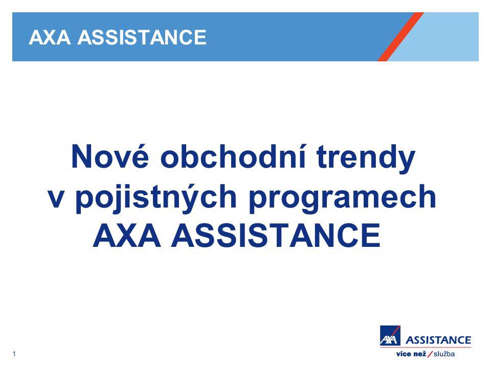 1 AXA ASSISTANCE Nové obchodní trendy v pojistných programech AXA ASSISTANCE