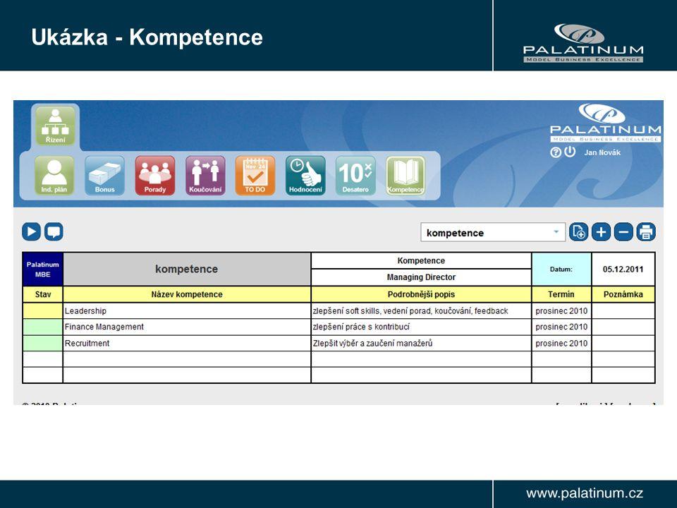 Ukázka - Kompetence