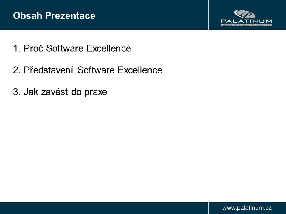 1.Proč Software Excellence 2.Představení Software Excellence 3.Jak zavést do praxe Obsah Prezentace