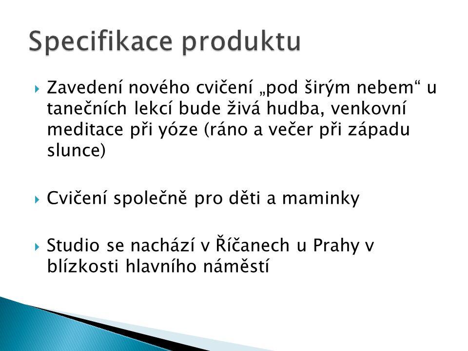  Strenghts: poloha studia, jedinečnost v okolí, zaměřenost pouze na ženy  Weaknesses:není vybudováno jméno studia, je tedy v okolí neznámé, zaměřenost pouze na ženy (omezená klientela)  Opportunities: stálá výstavba nových bytů, příliv nových lidí z Prahy  Threats: možná konkurence