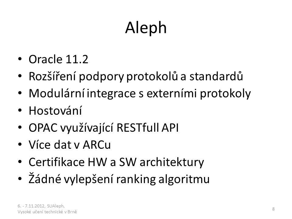 Alma Zkušenosti early adopters Keep it simple – co si můžeme dovolit v Alephu co se komplikovanosti struktur týče, je v Almě docela problém Bez problémů integrují na relativně široké škále (bib.