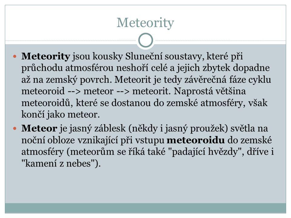 Typy meteoritů