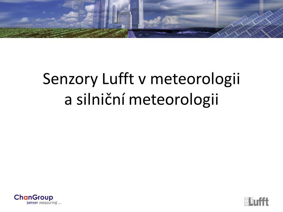 Senzory Lufft v meteorologii a silniční meteorologii