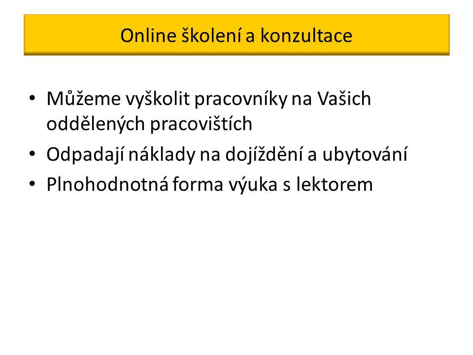 Naše webové stránky Adresa www.abspektrum.czwww.abspektrum.cz Možnost online objednání kurzu bez registrace Možnost odeslání poptávky