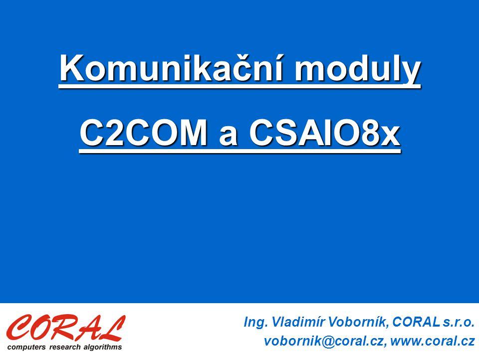 Ing.Vladimír Voborník, CORAL s.r.o.