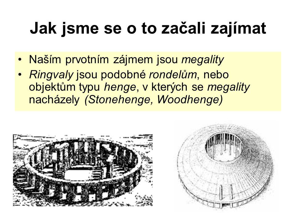 Jak jsme se o to začali zajímat Naším prvotním zájmem jsou megality Ringvaly jsou podobné rondelům, nebo objektům typu henge, v kterých se megality na