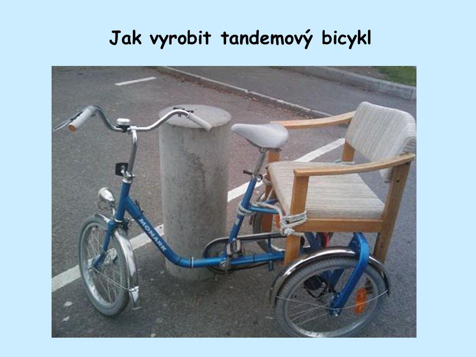Jak rychle vyrobit bicykl s úložným prostorem