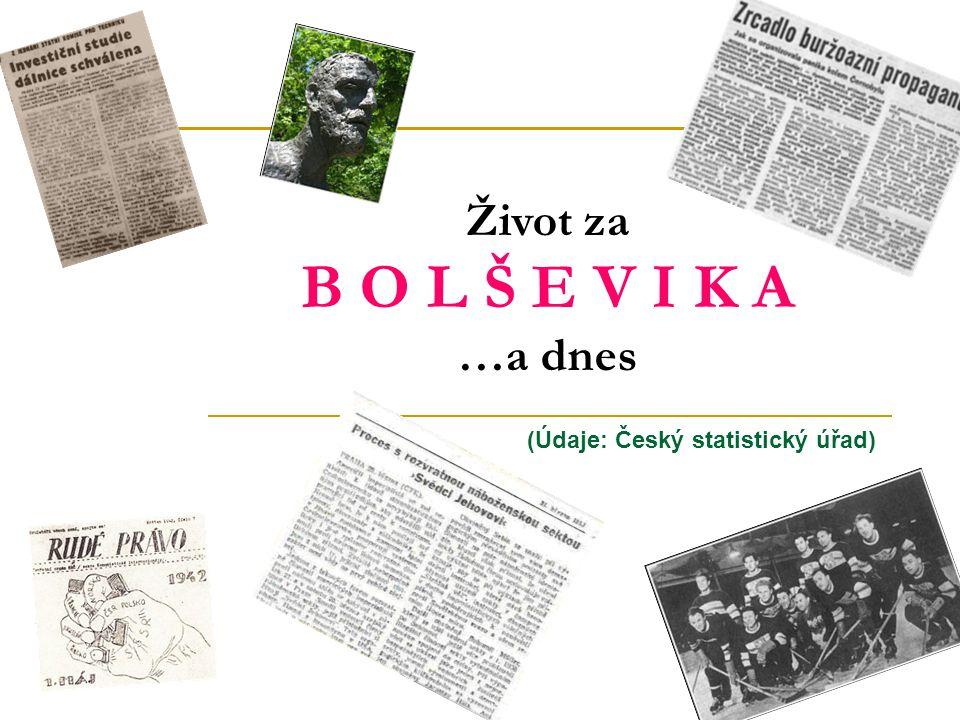 (Údaje: Český statistický úřad) Život za B O L Š E V I K A …a dnes