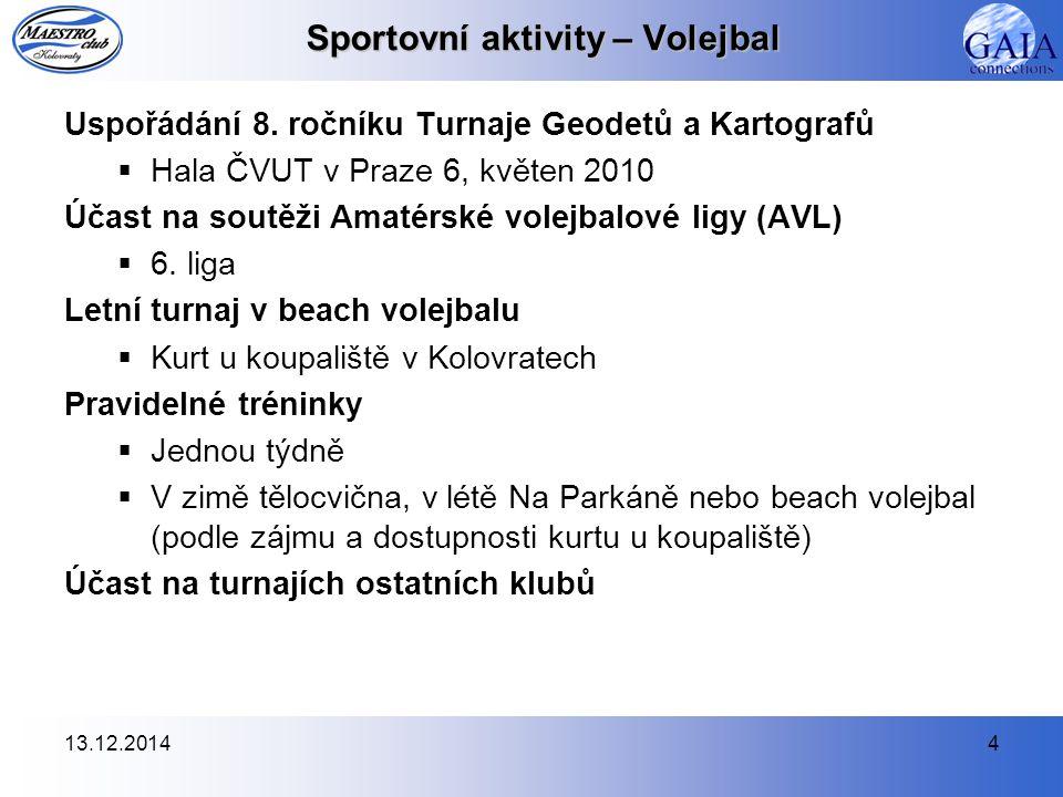 13.12.20144 Sportovní aktivity – Volejbal Uspořádání 8.