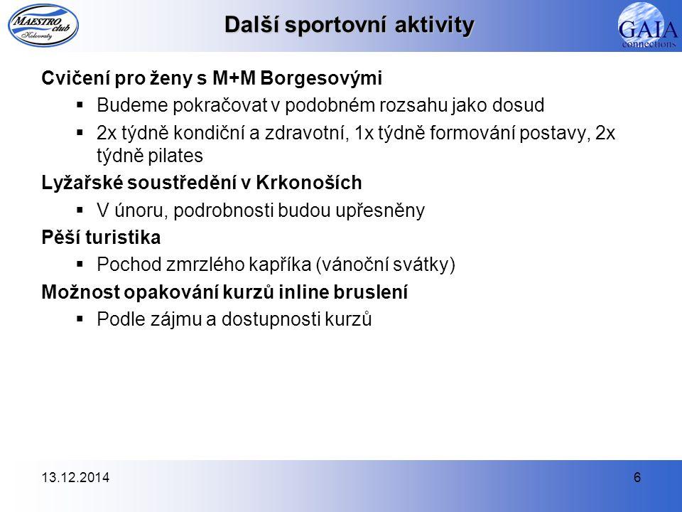 13.12.20147 Společenské aktivity Společenský ples MAESTRO CLUBU Kolovraty  5.