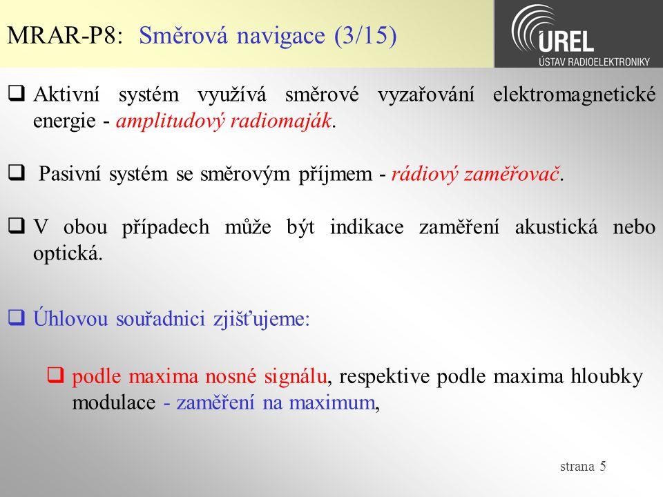 strana 26  DECCA NAVIGATOR MRAR-P8: Hyperbolická navigace (5/10)