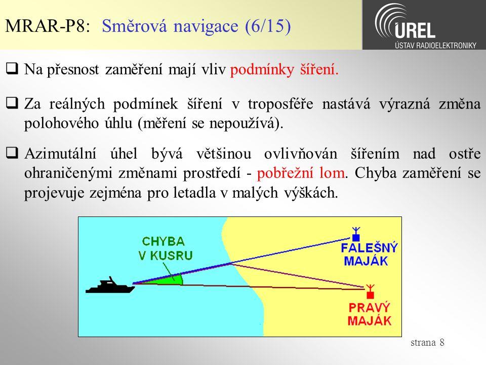 strana 19 MRAR-P8: Kruhová navigace (2/2)  Princip kruhové navigace