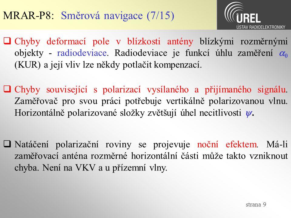 strana 30  LORAN MRAR-P8: Hyperbolická navigace (9/10)