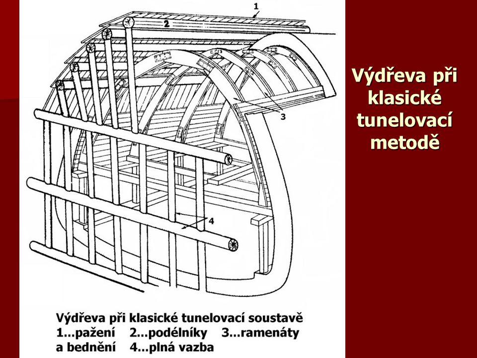 Výdřeva při klasické tunelovací metodě