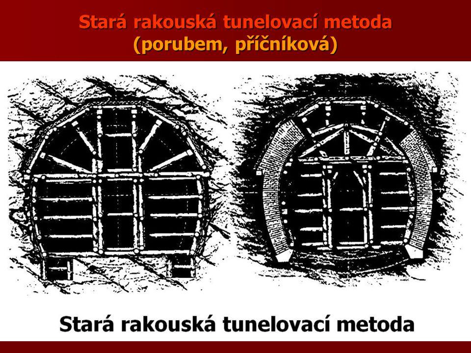 Stará rakouská tunelovací metoda (porubem, příčníková)