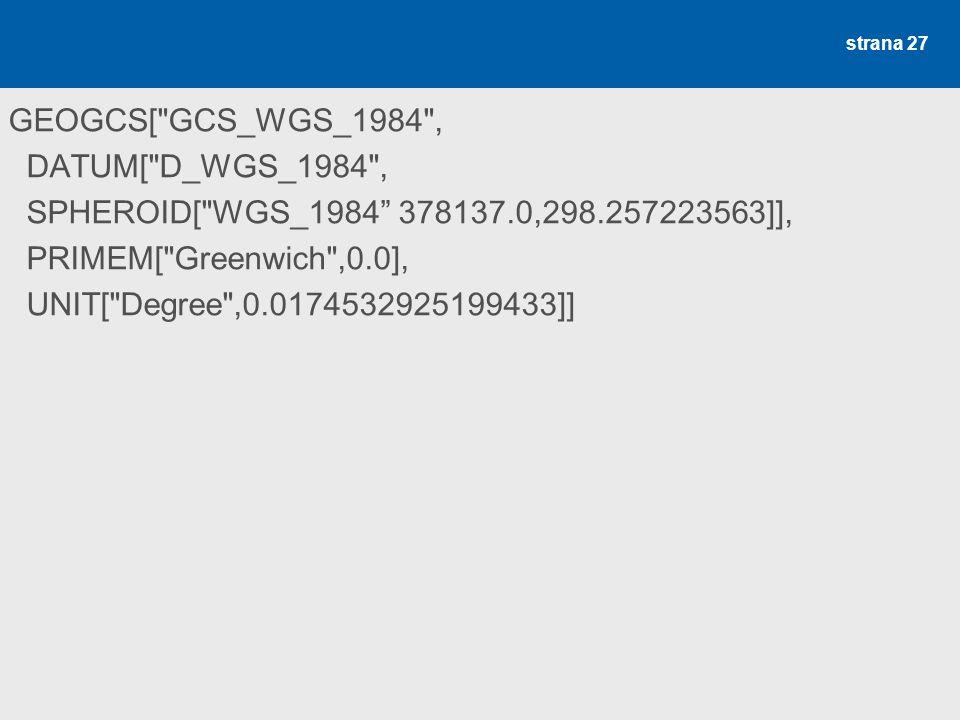 WGS 1984 (ESRI.prj) GEOGCS[