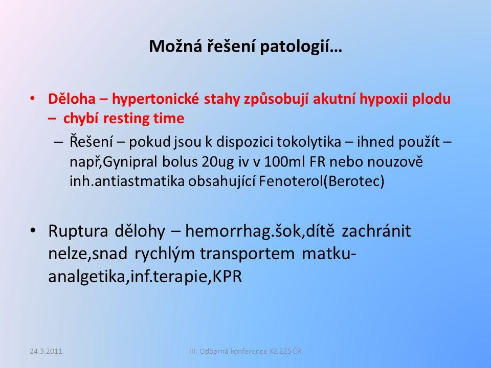 Děkuji Vám za pozornost 24.3.2011III. Odborná konference KZ ZZS ČR