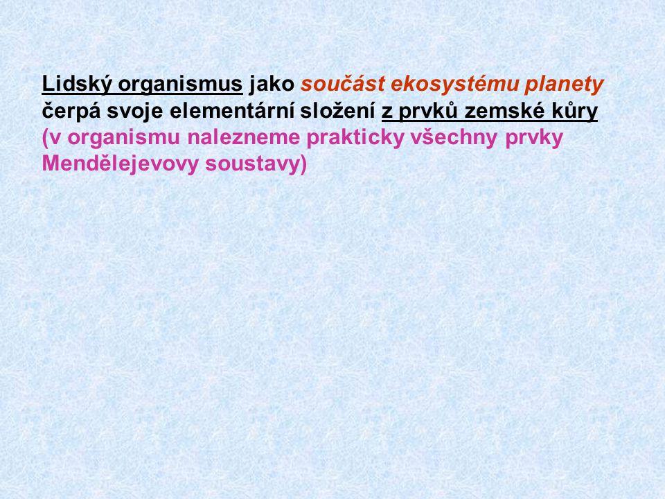 Cr-chrom (příznaky ) Fyziologie (význam) Hladina v krvi Množství v těle Deficit Toxicita (příznaky) Výskyt Potřeba 0.0006 g 0,004  mol/l 0,005 - 0,2 mg/d V dietě: anorganický i organický; černý čaj, kvasnice, maso, ořechy, med, kakao, celozrné výrobky Především u umělé parenterální výživy (hyperglykemie, snížená tolerance glukosy Potencuje funkci insulinu (dinikotino-glutathio- nový komplex (faktor porušené glukosové tolerance) Chromany a dichromany jsou mutageny, toxický je šestimocný Cr.