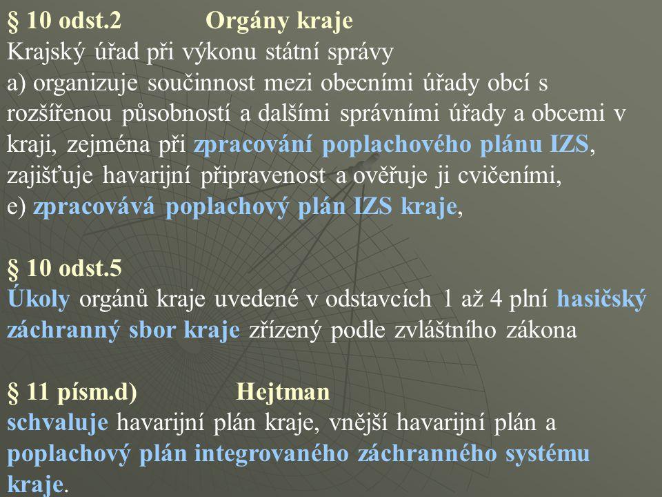 § 10 odst.2 Orgány kraje Krajský úřad při výkonu státní správy a) organizuje součinnost mezi obecními úřady obcí s rozšířenou působností a dalšími spr