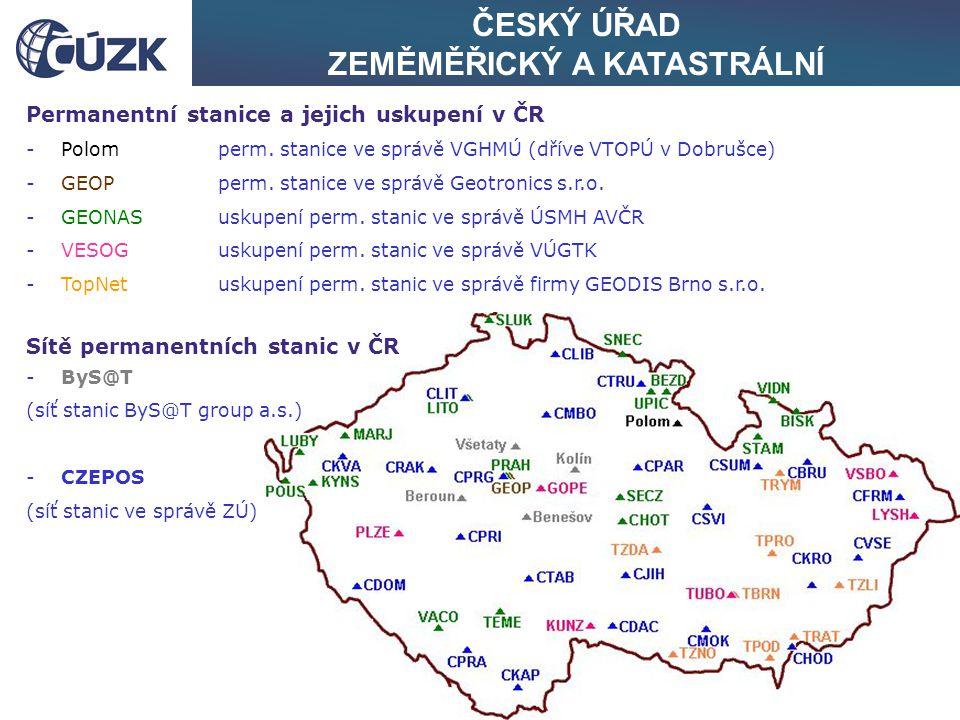 ČESKÝ ÚŘAD ZEMĚMĚŘICKÝ A KATASTRÁLNÍ Zhuštění současné konfigurace bodů o souřadnicích v S-JTSK i ETRS-89 v ČR - současný stav hustoty a konfigurace bodů se souřadnicemi v obou souřadnicových systémech končí na úrovni 3096 TB zahrnutých do výběrové údržby záměr Českého úřadu zeměměřického a katastrálního: co nejdříve vhodným a účelným způsobem dosáhnout stavu, kdy: - pro splnění požadavků vyhl.