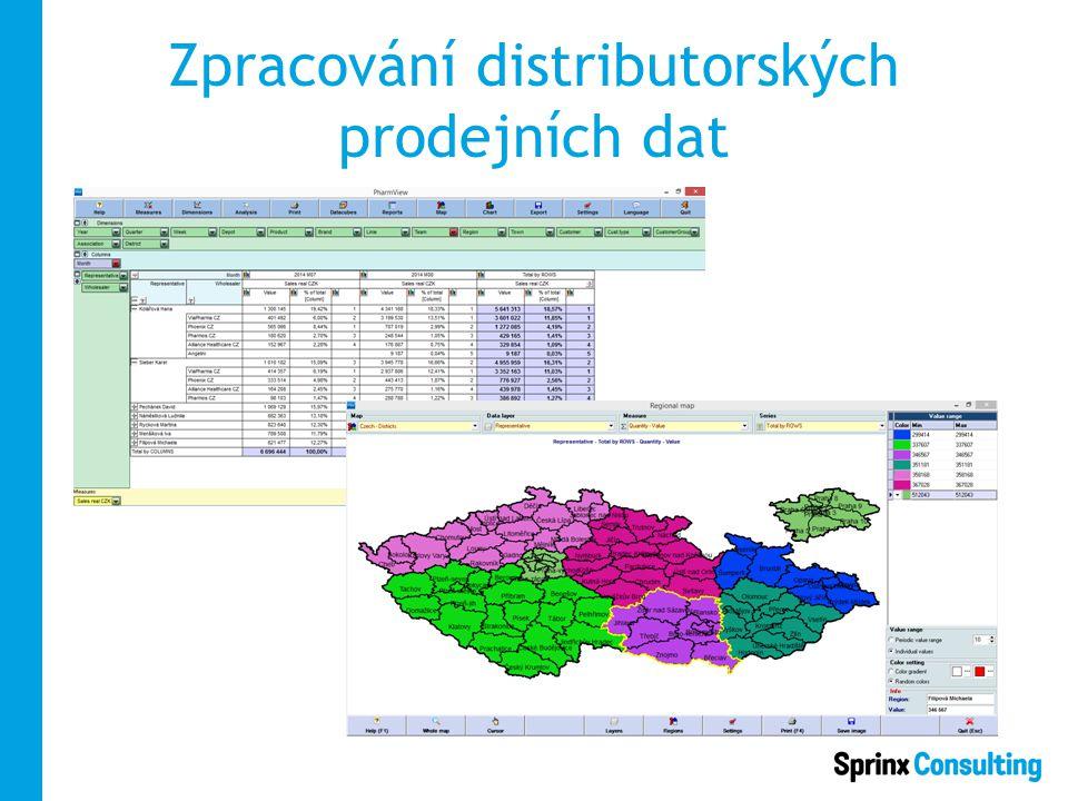 Zpracování distributorských prodejních dat