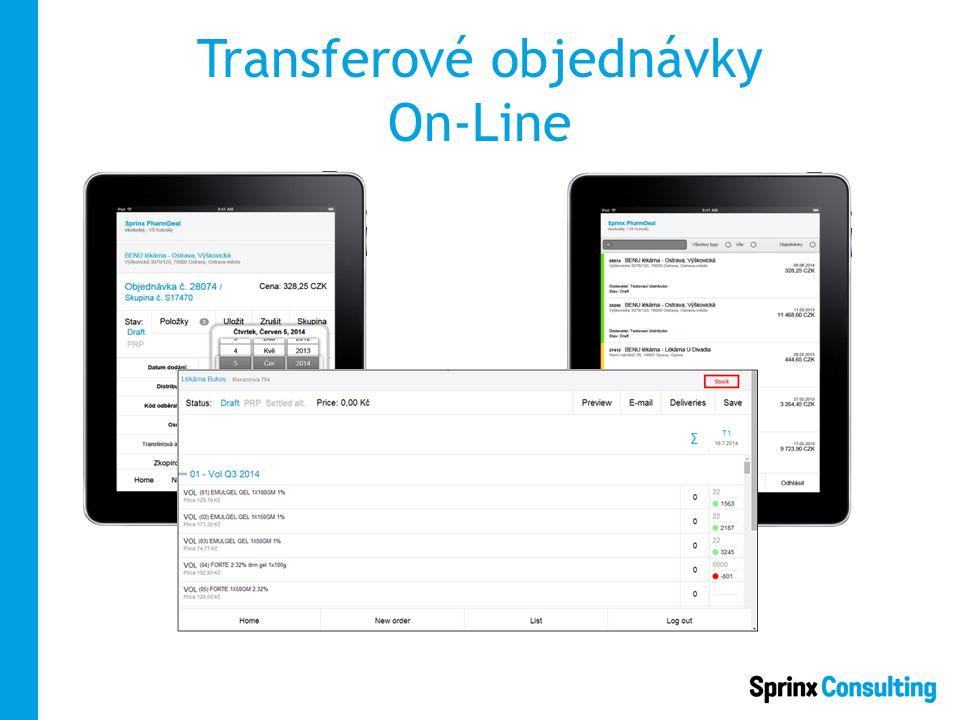 Transferové objednávky On-Line