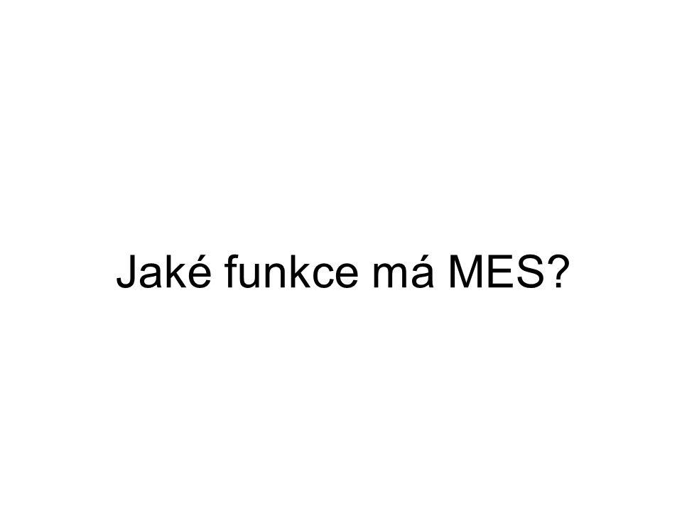 Jaké funkce má MES?
