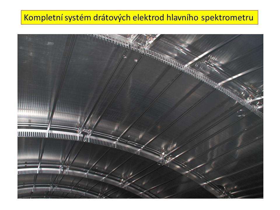 Kompletní systém drátových elektrod hlavního spektrometru