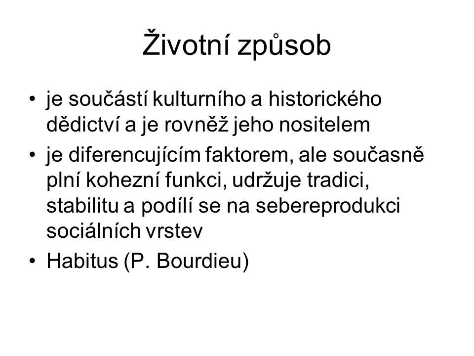 Habitus Prostor sociálních dispozic vyjadřuje jednotný styl praktických činností a statků určitého aktéra / třídy aktérů diferencuje, současně je diferencující (Bourdieu, P.