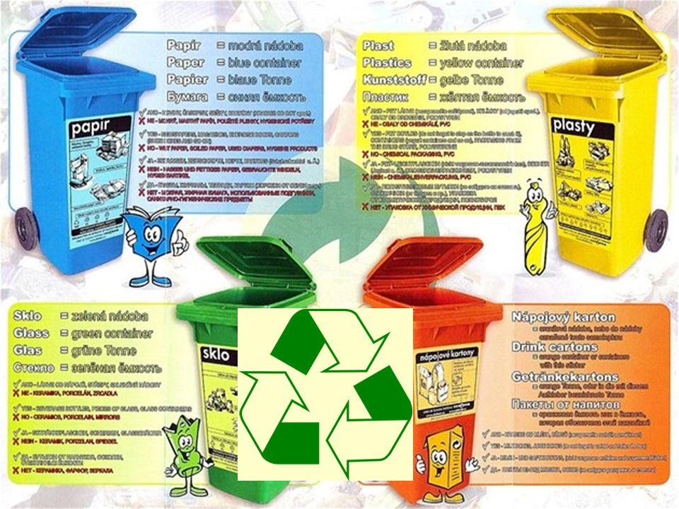 Recyklace znovu využití a zpracování odpadu znovu využití a zpracování odpadu šetřit životní prostředí můžete šetřit životní prostředí můžete i při na