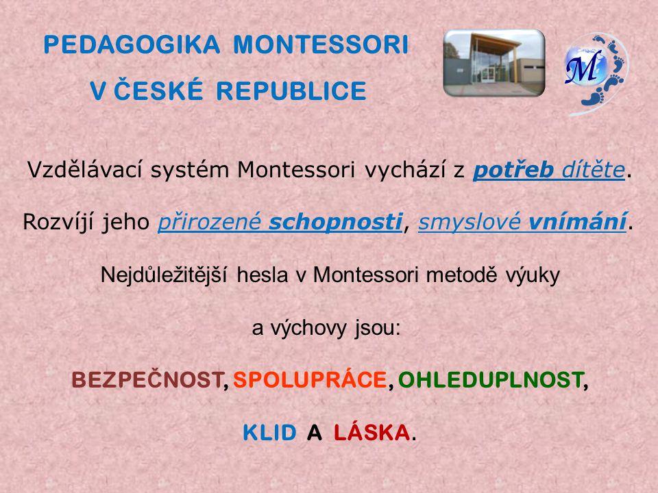 Vzdělávací systém Montessori vychází z potřeb dítěte.