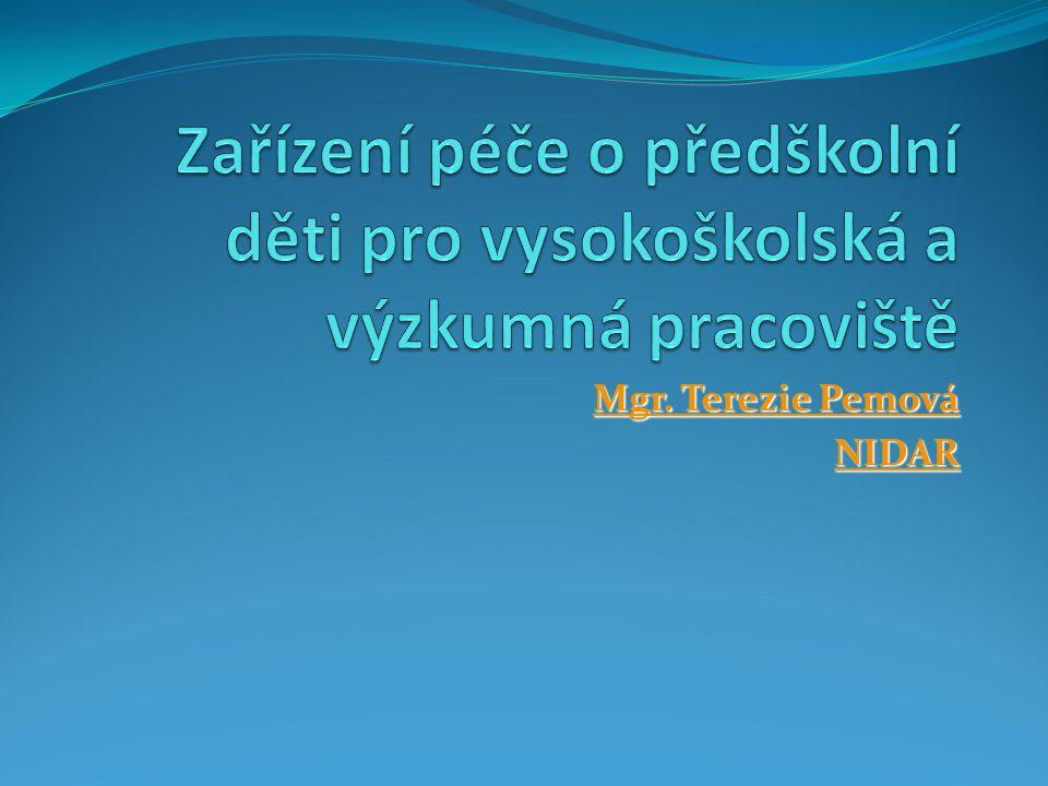Mgr. Terezie Pemová Mgr. Terezie Pemová NIDAR
