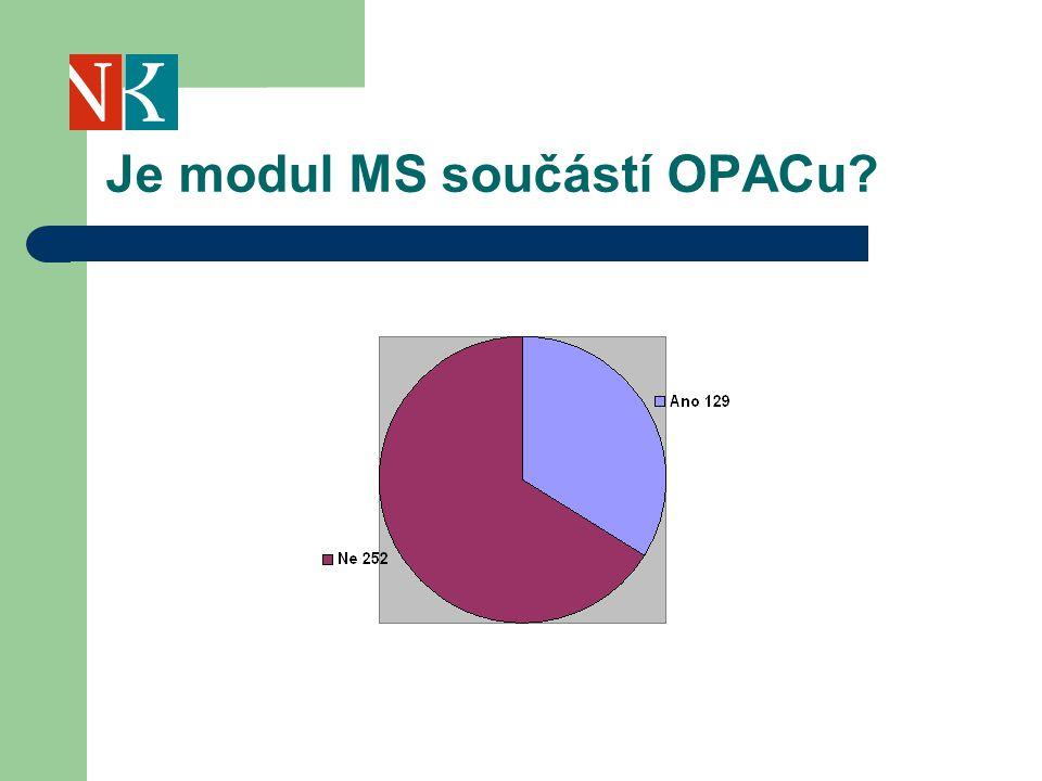 Je modul MS součástí OPACu?