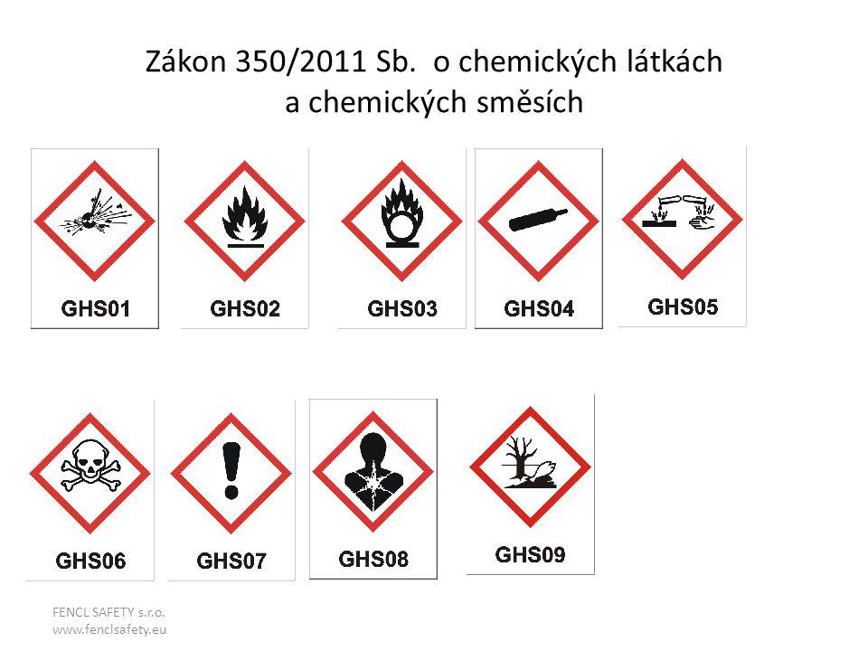 Zákon 350/2011 Sb. o chemických látkách a chemických směsích FENCL SAFETY s.r.o. www.fenclsafety.eu