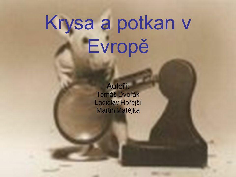 Krysa a potkan v Evropě Autoři: Tomáš Dvořák Ladislav Hořejší Martin Matějka