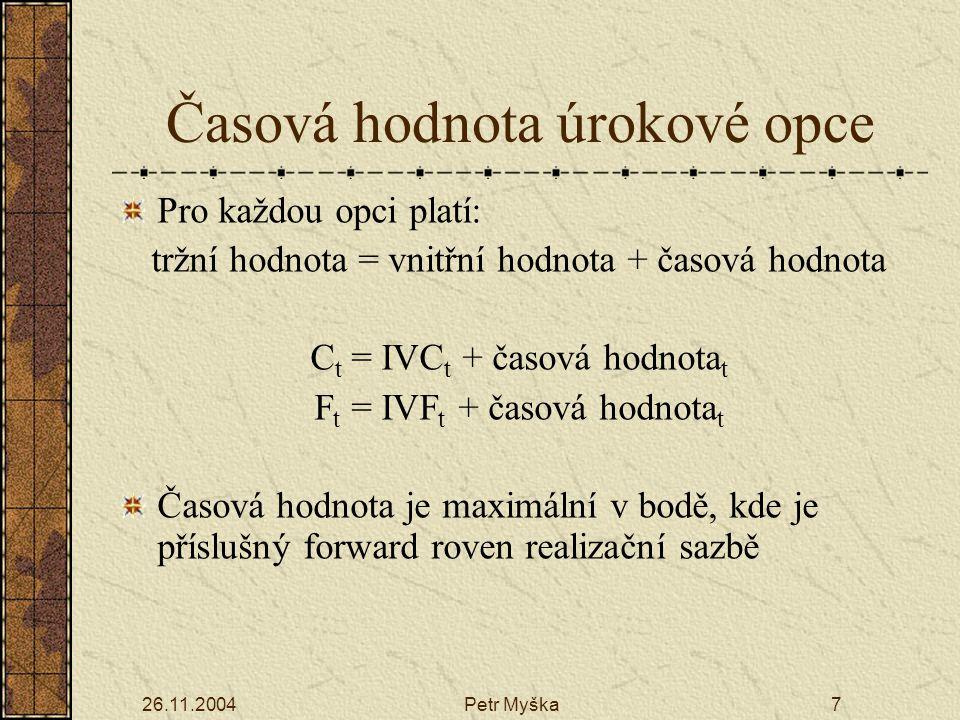 26.11.2004Petr Myška18 Průběh min. hodnoty pojistných závazků a tradiční rezervy