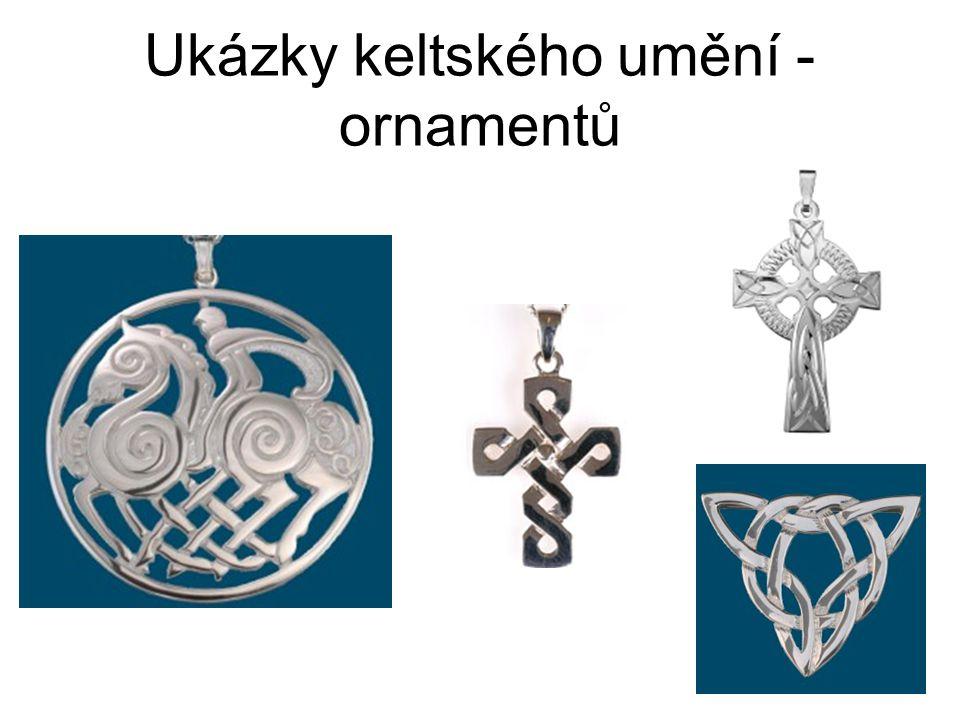 Ukázky keltského umění - ornamentů