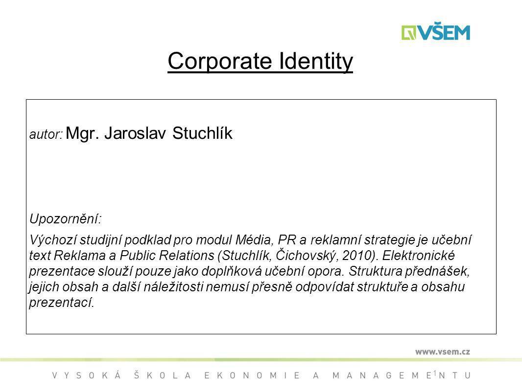 1 Corporate Identity autor: Mgr.