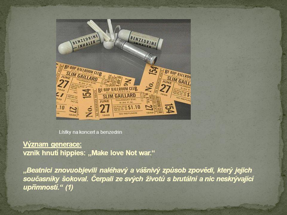 Lístky na koncert a benzedrin