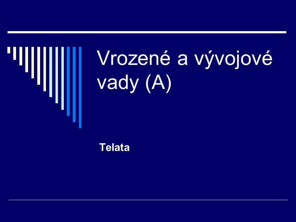 Vrozené a vývojové vady (A) Telata