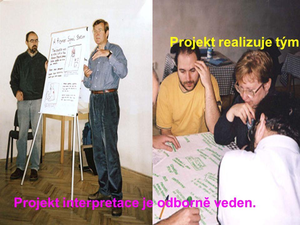 Projekt interpretace je odborně veden. Projekt realizuje tým.