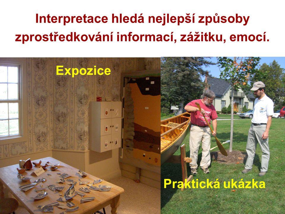 Interpretace hledá nejlepší způsoby zprostředkování informací, zážitku, emocí.
