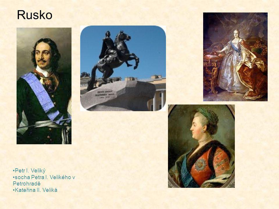 Rusko Petr I. Veliký socha Petra I. Velikého v Petrohradě Kateřina II. Veliká