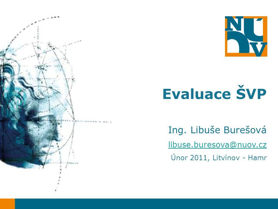 Evaluace ŠVP Ing. Libuše Burešová libuse.buresova@nuov.cz Únor 2011, Litvínov - Hamr