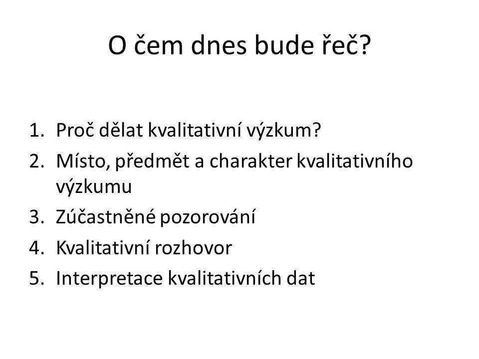 Typologie rozhovorů .