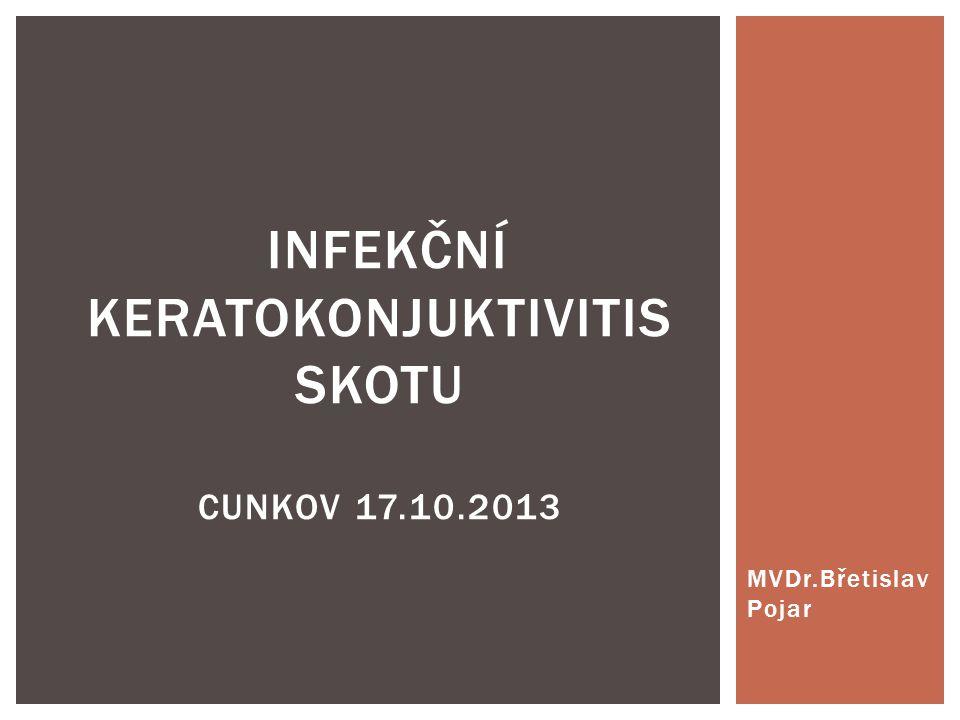 MVDr.Břetislav Pojar INFEKČNÍ KERATOKONJUKTIVITIS SKOTU CUNKOV 17.10.2013